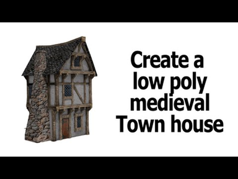 Blender | low poly house unwrap and texture | part 1