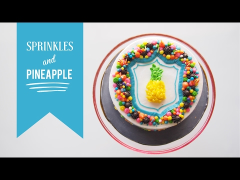 Sprinkles & Pineapple Cake | Satisfying Cake Decorating | Greggy Soriano