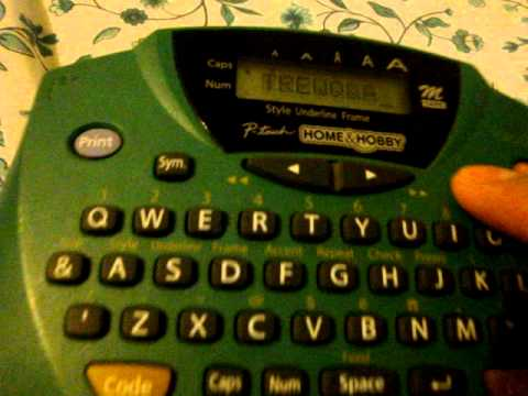 BROTHER P-TOUCH HOME OFFICE & HOBBY LABEL MAKER PT-65