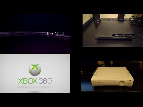 PS3 vs XBOX 360 Startup Screens... AT THE SAME TIME! Which Boots Fastest??