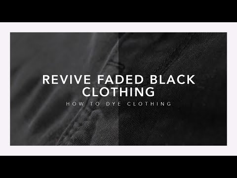 How To Revive Faded Black Clothes | Rit Dye | Jillian Bean