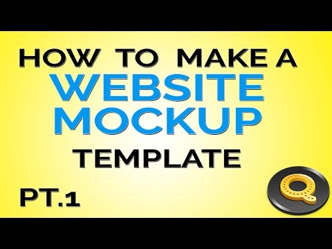 Photoshop Tutorial | How to Make a Web Design Mockup Template | Video Series Pt.1