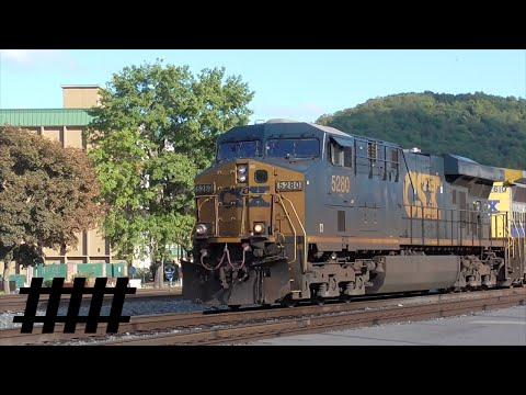 CSX Trains in Cumberland, Maryland