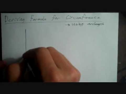 Deriving Circumference Using Arc Length