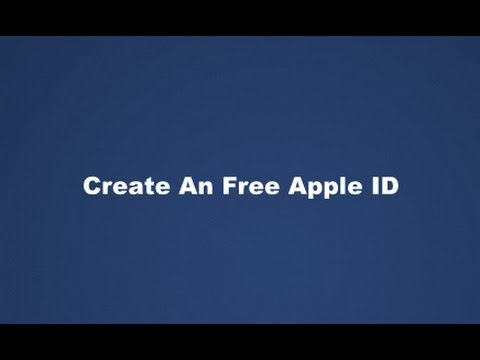 Create A Free Apple ID In iTunes Without A Credit Card