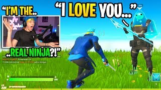 I bought the NINJA SKIN and pretended to be NINJA in duos fill... (it actually WORKED!)