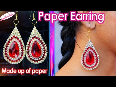 How to make Paper Earrings | made out of paper | Simple and easy | Artkala 119