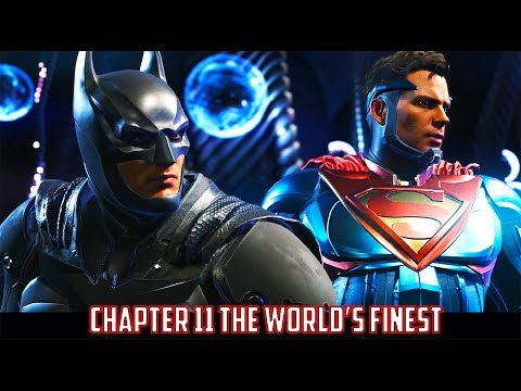 Injustice 2 Chapter 11 The World's Finest as Batman and Superman vs Firestorm, Swamp Thing, Brainiac