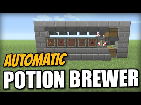 Minecraft PS4 - AUTOMATIC POTION BREWER - Tutorial - PE / Xbox / PS3 / Wii U