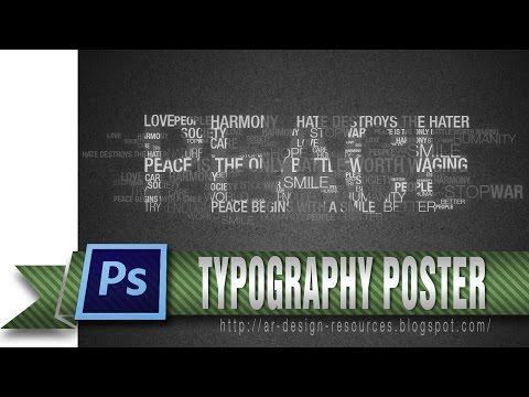 How to make a cool Typography poster — Photoshop Tutorial