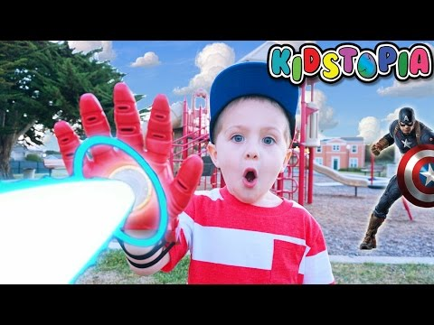 Disney Store Iron Man Repulsor Gloves Outdoor Playground Family Fun for Kids