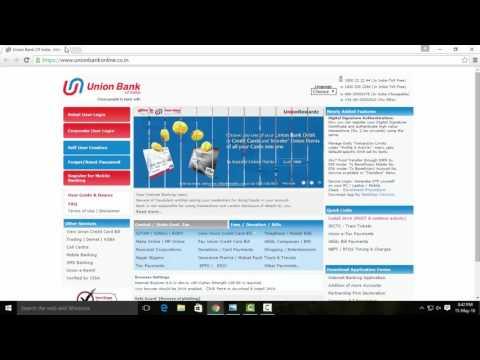 Union Bank Internet Banking Registration - Tamil Tutorials