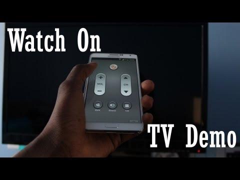 Samsung Galaxy Note 3 - Watch On - TV Remote Demo