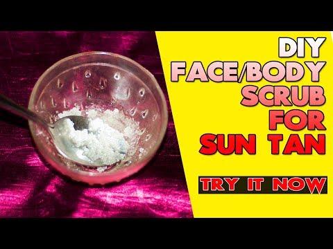 DIY Natural Face And Body Scrub Tutorial | Homemade Scrub For Sun Tan | Indian Makeup