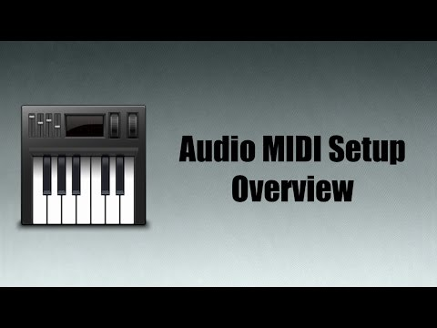 Mac OS X Audio MIDI Setup Overview