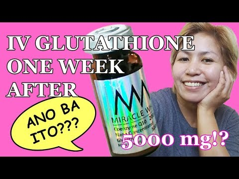 MIRACLE WHITE IV Glutathione One Week After
