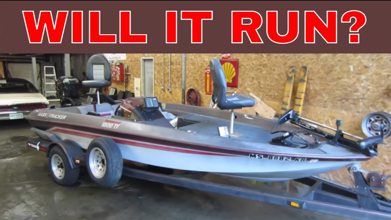 Bass Boat Sitting 10 Years, Lets See If The Engine is Good?