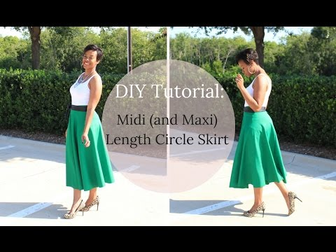 DIY Tutorial: Midi or Maxi Length Circle Skirt