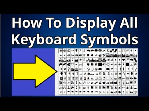 How To Display All Keyboard Symbols