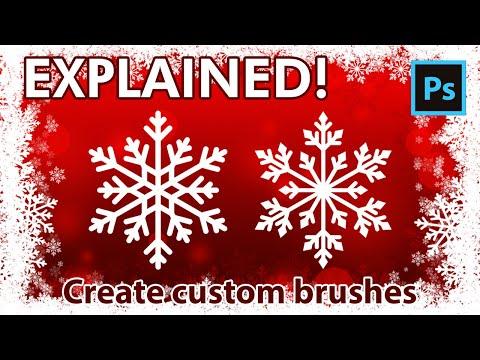 Adobe Photoshop Tutorial - Create Custom Brushes - Snowflakes