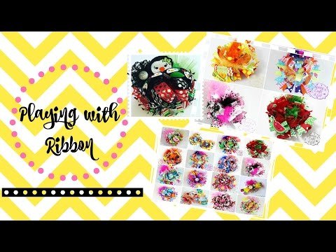 Playing with Ribbon :) How to make a Twisted Boutiqe bow w/different widths of ribbon