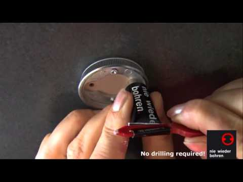 no drilling required Towel Bars Installation - How to Install