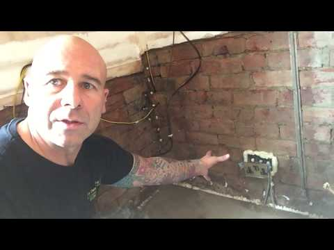 How to put a plug socket back box on without screwing into the brick before plastering.