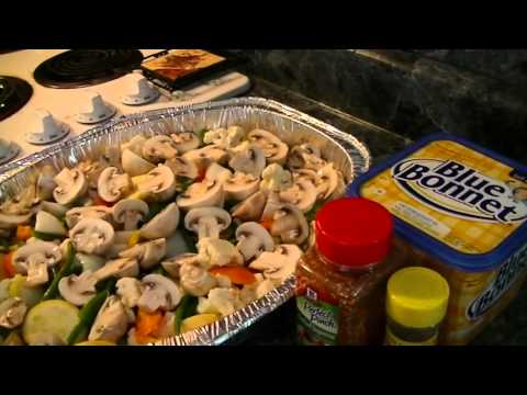 Steamed Vegetables on the Grill