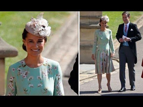 Pregnant Pippa Middleton is elegant in a floral summer dress at Royal wedding 2018