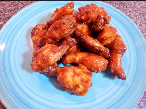 Homemade Chicken Wings with Barbecue Sauce