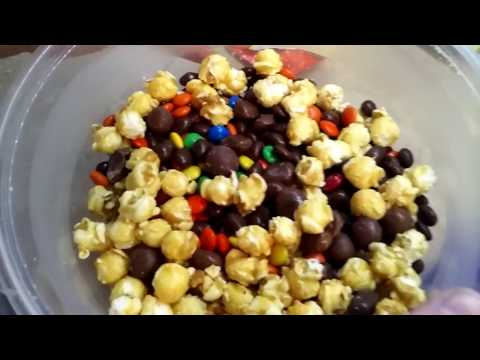 3 Minute Candy Popcorn Snack Mix Recipe