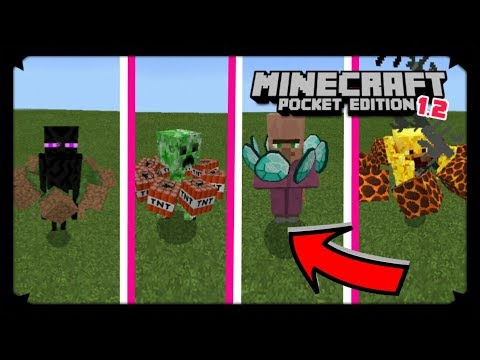 HOW TO MAKE EVOLVED MOBS IN MCPE 1.2 | NO MODS | MINECRAFT PE