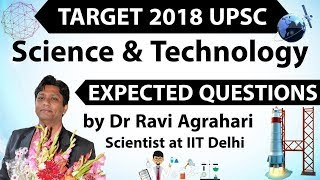 Target 2018 UPSC - Science & Technology Current Affairs - Expected Questions SET 4