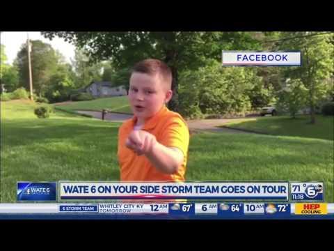 Mini-meteorologist Hayden Harrell promotes Storm Team Tour
