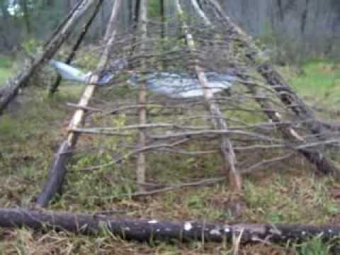 Nancy Today: Alder woven tipi walls so far ASMR weaving basketmaking (basket making tutorial)