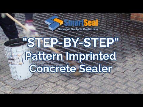 Imprinted Concrete Sealer, DIY Repair, Colouring and Sealing