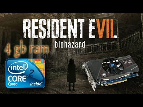Resident Evil 7 Gameplay Q6600 4gb Ram HD 7770