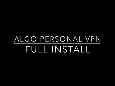 Algo Personal VPN Full Install