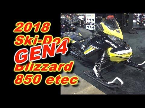 2018 Ski-Doo Gen4 850 e-tec Blizzard