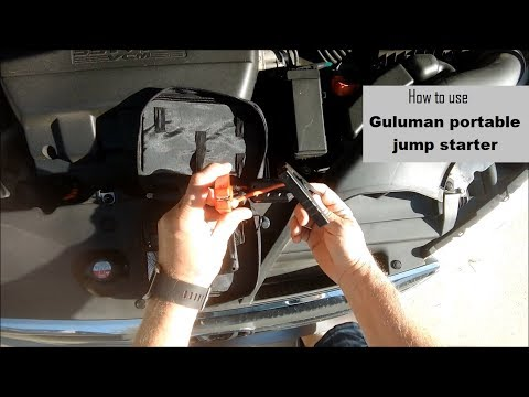 How to use the Guluman Portable Jump Starter | Honda Odyssey DIY video | #diy #jumpstart