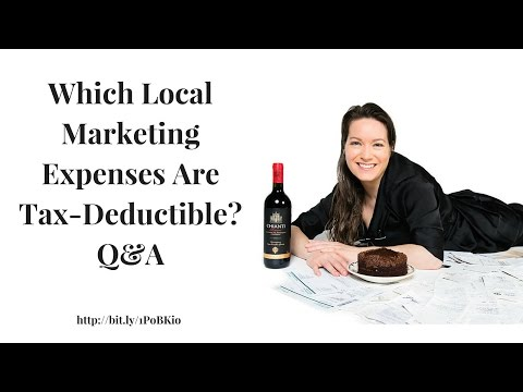 Which Local Marketing Expenses are Tax-Deductible?