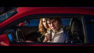 Baby Rides Red Dodge Challenger | 1080 P | Baby Driver 2017