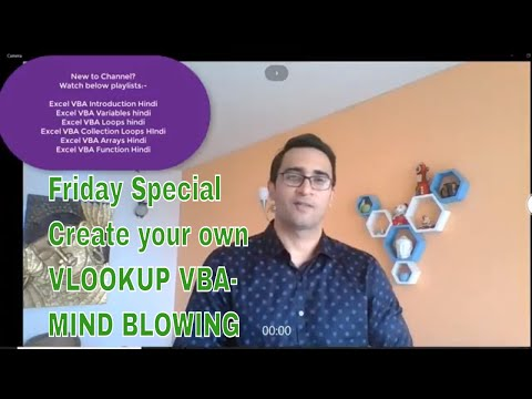 Friday Special- Make your own Vlookup Function VBA Hindi