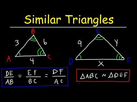 Similar Triangles and Figures, Enlargement Ratios & Proportions   Geometry Word Problems