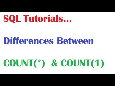 SQL Tutorial : Difference Between Count(1) and Count(*)  in SQL Oracle