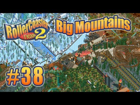 Let's Play RollerCoaster Tycoon 2 (Big Mountains) - Ep. 38: RED SKI LIFT STATION