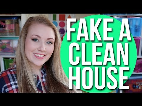 SPEED CLEANING - HOW TO FAKE A CLEAN HOUSE FAST ! CLEAN YOUR HOUSE FAST - A CHILDMINDING MUMMY
