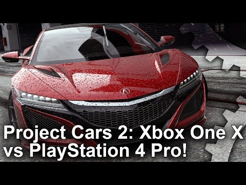 [4K] Project Cars 2: Xbox One X vs PS4 Pro Graphics Comparison + Frame-Rate Test