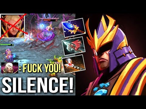 Badass Silencer Counter Invoker Mid 160% Pure Damage Build Epic Gameplay by Timado Dota 2