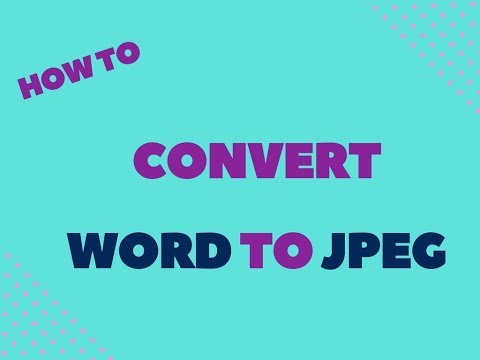 How to convert word file to jpg image?